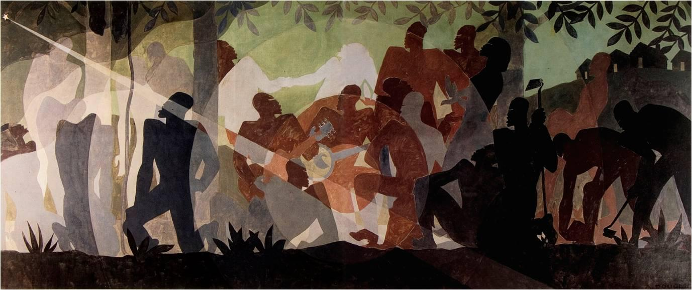 Aaron Douglas 'Aspects of Negro Life - Idylls of the Deep South' 1934